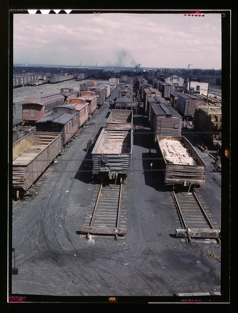 General view of part of the rip tracks at C & NW RR's Proviso yard, Chicago, Ill.