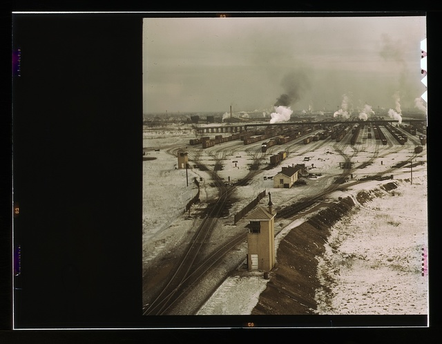 General view of the hump, Chicago and Northwestern railroad classification yard, Chicago, Ill.