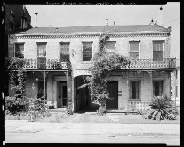 Girard Double House, 56-58 Conception St., Mobile, Mobile County, Alabama