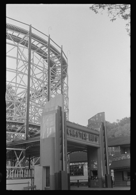 Glen Echo, Maryland. A view of Glen Echo Park showing the entrance to the coaster dips