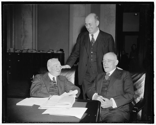 [Group: Henry Morgenthau, standing]