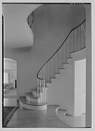 Harold F. Reindahl, residence on Forest Rd., Essex Fells, New Jersey. Staircase