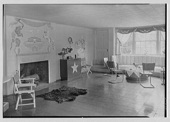 H.H. Rennell, residence in Sasco Hill, Southport, Connecticut. Playroom