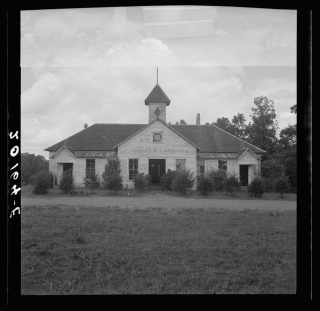 Hickory Mount grange holds its meeting in an old school building, only white farmers attend. Chatham County, North Carolina
