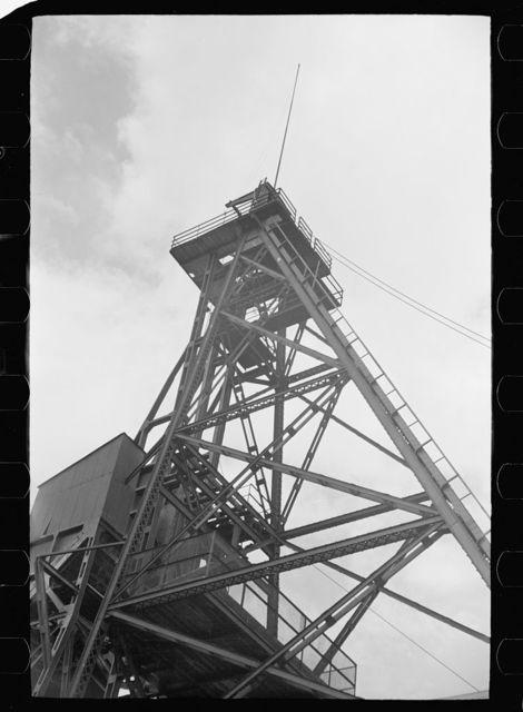 Hoist over copper mine, Butte, Montana