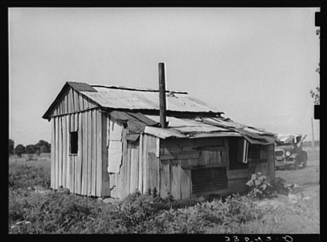 Home of agricultural day laborer near Tullahassee, Oklahoma. Wagoner County