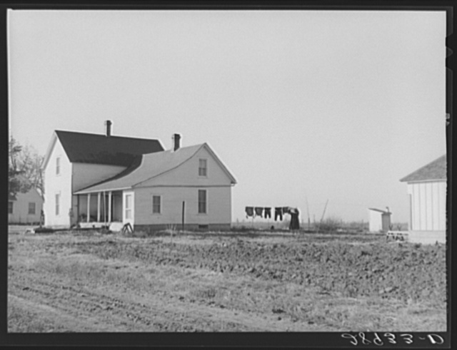 Home of member of Bois d'Arc cooperative who takes care of beef cattle. Osage Farms, Missouri