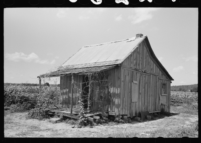 Home of Negro agricultural day laborers near Vian, Sequoyah Coounty, Oklahoma