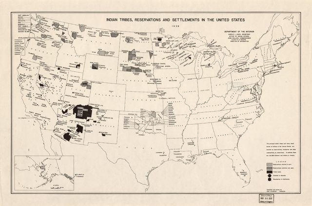 Indian tribes, reservations and settlements in the United States /