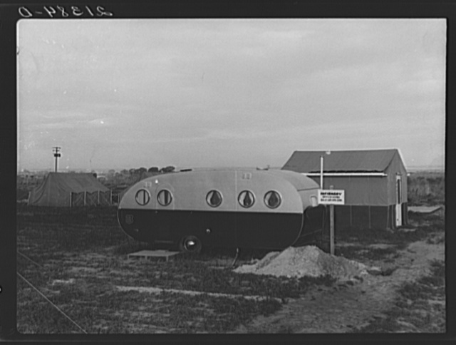 Infirmary. Nyssa farm family labor camp. Mobile unit at opening of beet campaign. Malheur County, Oregon. FSA (Farm Security Administration) camp