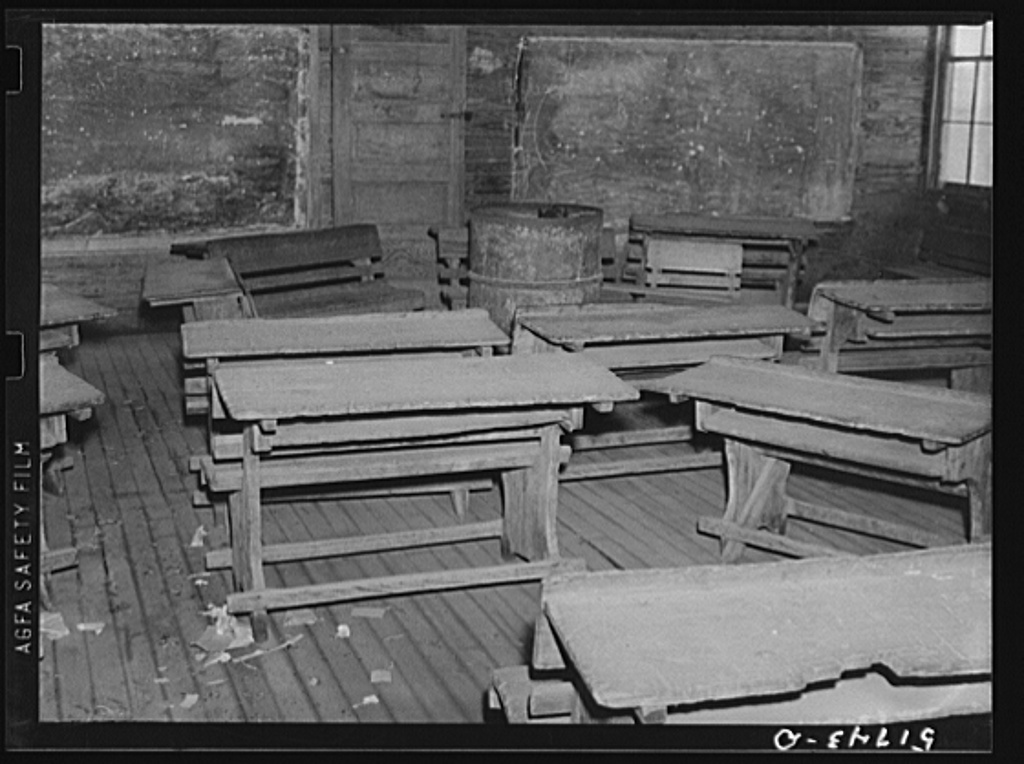 Interior of classroom in old Goodman school (the new Goodman school replaced three small schools). Coffee County, Alabama