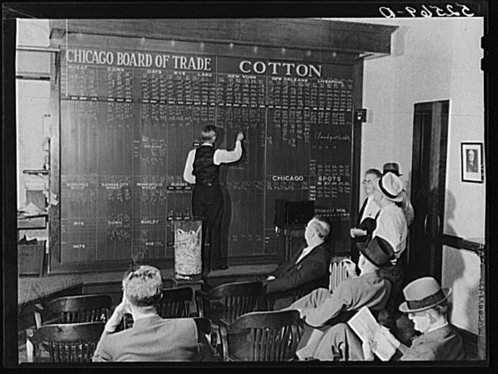 Interior of cotton broker's office. Memphis, Tennessee