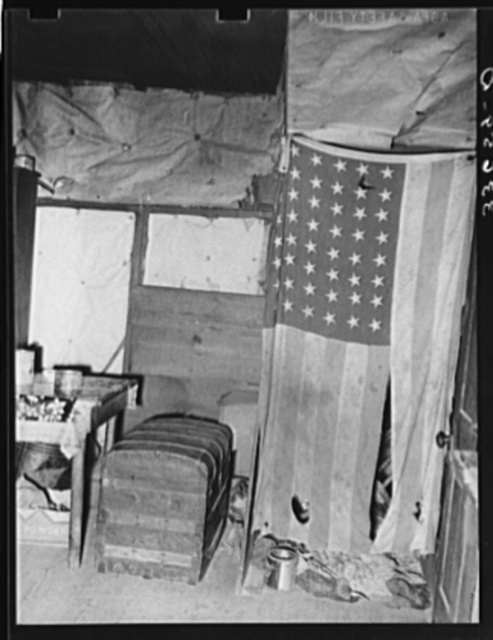 Interior of home of Negro agricultural day laborer. Wagoner County, Oklahoma
