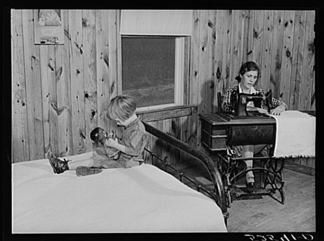 Interior of project family's house. Sunflower Plantation, Merigold, Mississippi