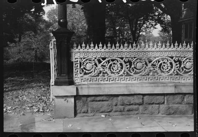Iron grill work of residence, Meriden, Connecticut