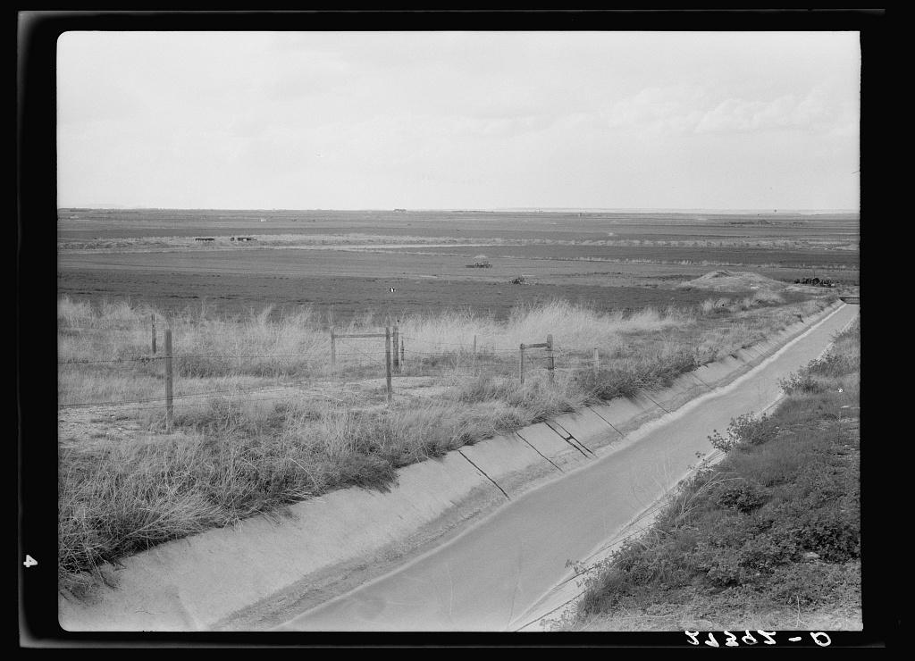 Irrigation ditch. Fairfield Bench Farms, Montana