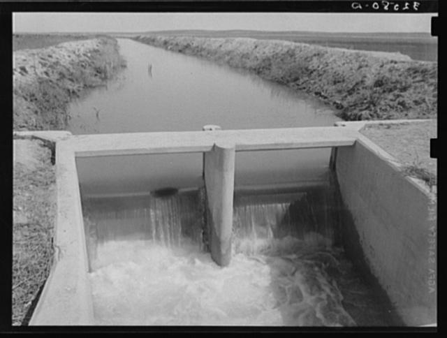 Irrigation ditch near Eagle Pass, Texas