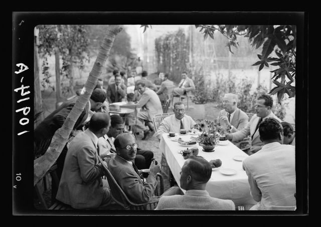 Jerusalem Y.M.C.A. activities. Tea party after tournament