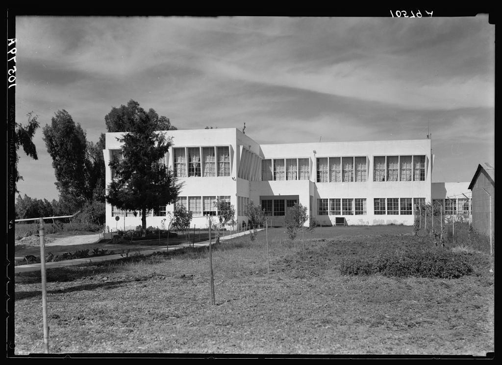 Jewish factories in Palestine on Plain of Sharon & along the coast to Haifa. Nachlat Izhak. Artificial tooth factory