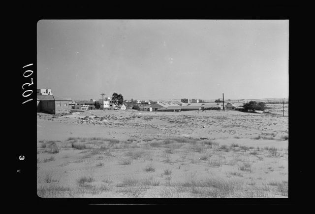 Jewish factories in Palestine on Plain of Sharon & along the coast to Haifa. The Lodzia Textile Co. in Holon settlement (meaning sandy)