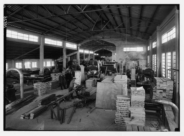 Jewish factories in Palestine on Plain of Sharon & along the coast to Haifa. The Tirzah Ltd. furniture manufacturers. Woodworkers on Rehovoth Road. Workshop. Int[erior]