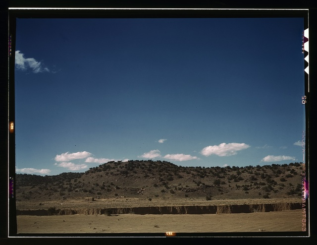 Landscape along the Santa Fe R.R., Willard, N[ew] Mex[ico]