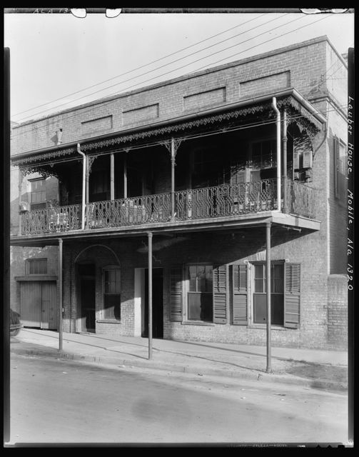 Lauber House, 107 Theatre St., Ironwork, Mobile, Mobile County, Alabama