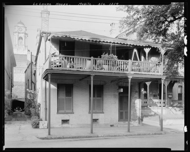 Le Loupe House, 107 St. Emanuel St., Mobile, Mobile County, Alabama