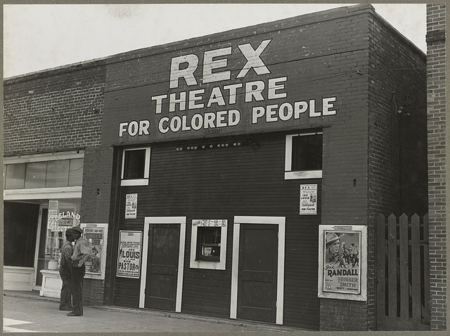 Leland, Miss., in the Delta area. The Rex theatre for Negro people