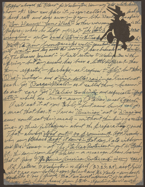 Letter from Pearl R. Nye to Alan Lomax, January 22, 1939