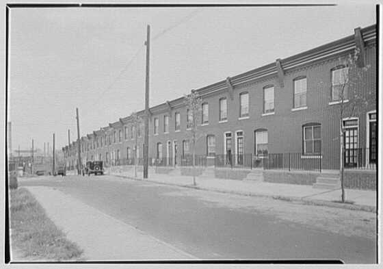 Linmore Street housing, Philadelphia, Pennsylvania. Front elevations