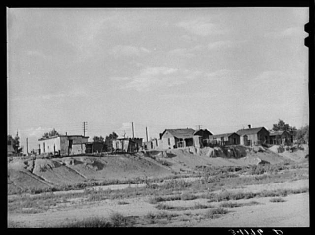 Living quarters of Mexicans at La Junta, Colorado
