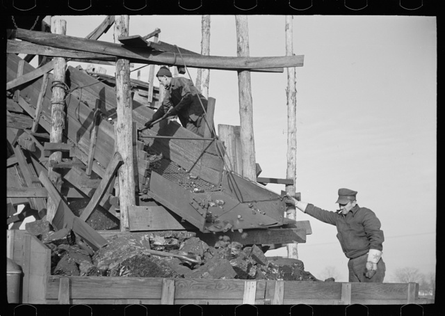 Loading a truck at gopher hole, Williamson County, Illinois