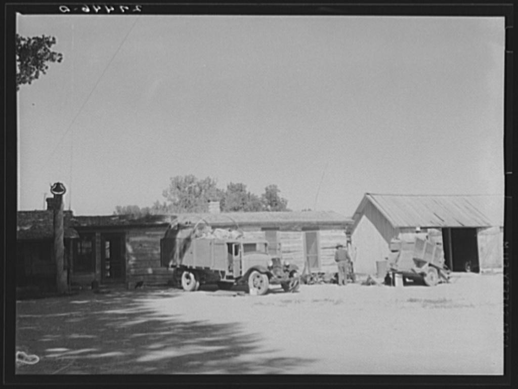 Loading the roundup truck. Quarter Circle 'U' Ranch, Montana