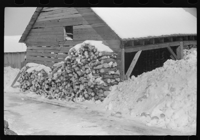 Logs for winter fuel on Mr. Dickinson's farm in Lisbon, near Franconia, New Hampshire