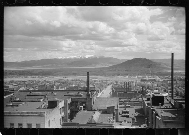 Looking away from Broadway, Butte, Montana