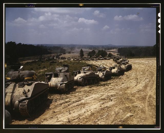 M-4 tank line, Ft. Knox, Ky.