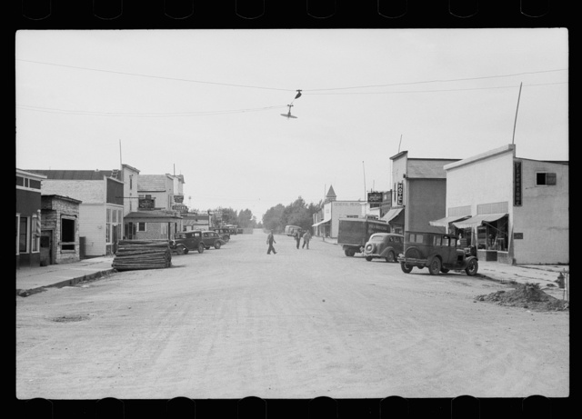 Main street of Kelliher, Minnesota, once a booming lumber town