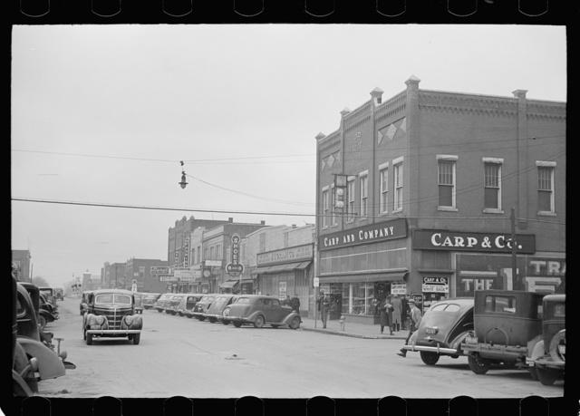 Main street, West Frankfort, Illinois