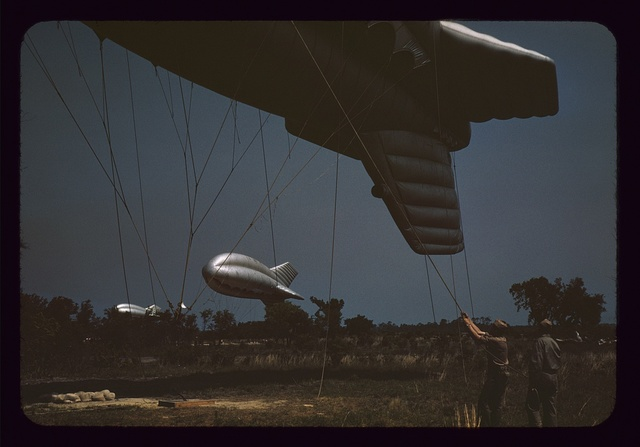 Marine Corps barrage balloons, Parris Island, S.C.