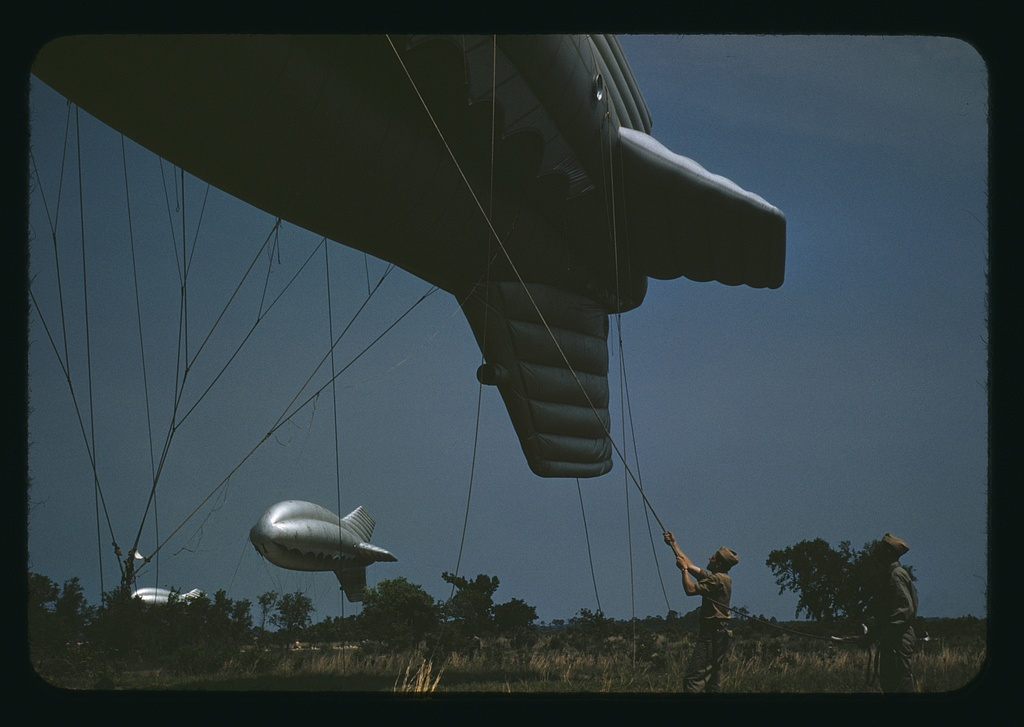 Marine Corps barrage balloons, Parris Island, S.C.
