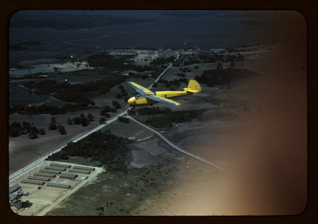 Marine Corps glider in flight out of Parris island, S.C.