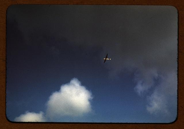 Marine Corps glider in flight, Parris Island, S.C.