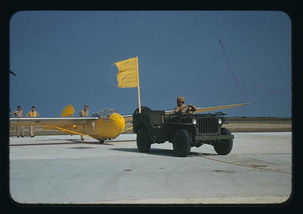 Marine glider at Page Field, Parris Island, S.C.