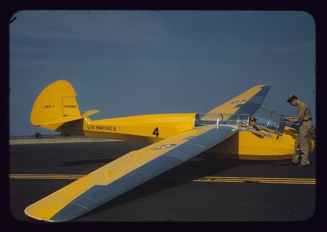 Marine glider in training at Page Field, Parris Island, S.C.