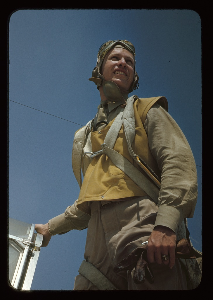Marine lieutenant, glider pilot in training at Page Field, Parris Island, S.C.