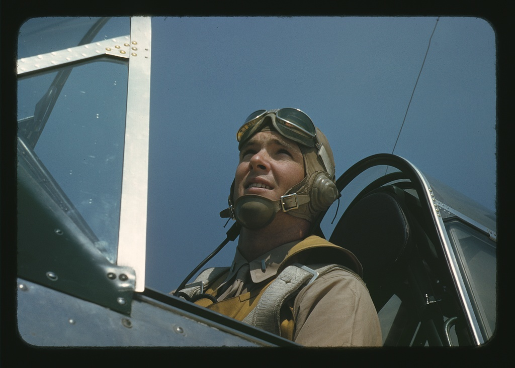 Marine Lieutenant, glider pilot in training at Page Field, Parris Island, S.C.