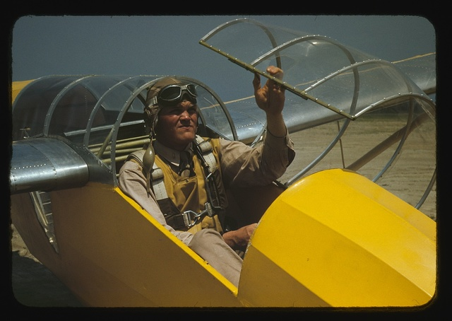 Marine lieutenant, glider pilot in training, at Page Field, Parris Island, S.C.
