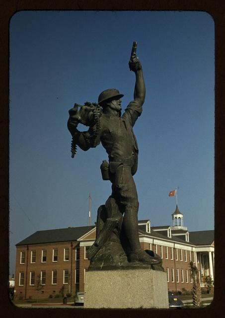 Marine statue at Parris Island, S.C.
