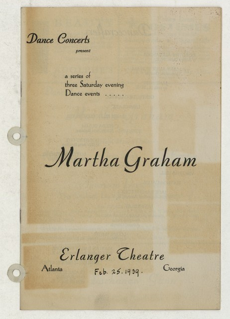[ Martha Graham, Erlager Theatre, February 25, 1939]